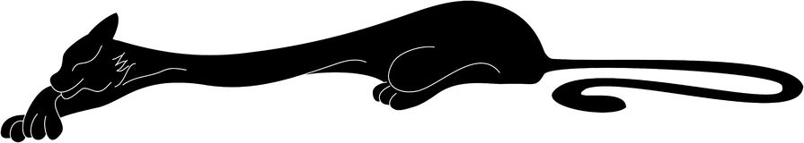 Gatto nero illustrazione di stock