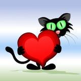 Gatto nero. illustrazione vettoriale