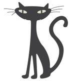 Gatto nero Immagini Stock Libere da Diritti