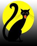 Gatto nero di Halloween Fotografia Stock