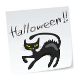 Gatto nero di Halloween Fotografie Stock