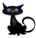 Gatto nero sveglio Fotografie Stock Libere da Diritti