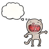 gatto pazzo del fumetto Fotografia Stock Libera da Diritti