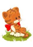 Gatto rosso sveglio Immagine Stock