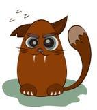 Gatto rosso sveglio Personaggio dei cartoni animati divertente Cane pastore fotografia stock