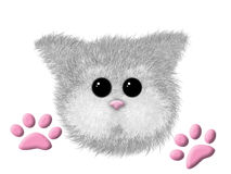 Gatto simile a pelliccia sveglio di gray della museruola Fotografia Stock Libera da Diritti