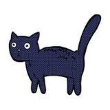 gatto spaventato fumetto comico Fotografie Stock Libere da Diritti