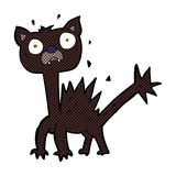 gatto spaventato fumetto comico Fotografia Stock Libera da Diritti
