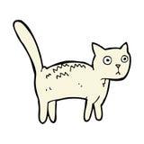 gatto spaventato fumetto comico Immagini Stock