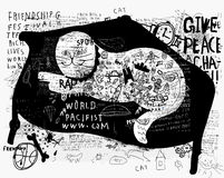 Gatto su un sofà Immagini Stock