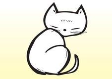 Gatto sveglio disegnato a mano Immagini Stock Libere da Diritti