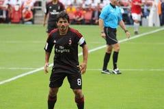 Gattuso und neues AC Mailand-Hemd Lizenzfreies Stockfoto