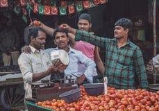 Gatuförsäljare Arkivbild