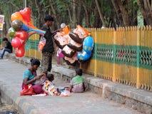 Gatuförsäljare i Indien arkivfoto