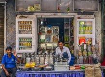 Gatuförsäljare i Jodhpur, Indien arkivfoto