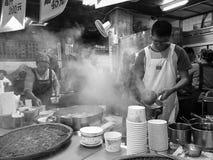 Gatuförsäljare i Taipei, Taiwan fotografering för bildbyråer