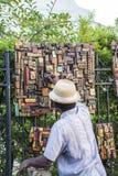 Gatuförsäljarekonstnär Arkivfoto