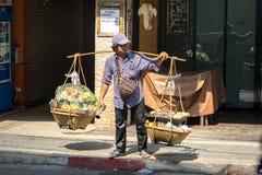 Gatuförsäljaremat Royaltyfri Bild