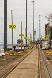 Gatum för Panama kanal pir för sjö Royaltyfri Bild