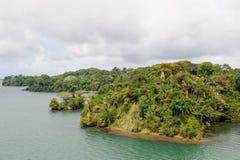 gatun湖风景的巴拿马 图库摄影