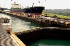 Gatun chiude il canale a chiave di Paanama Fotografie Stock Libere da Diritti
