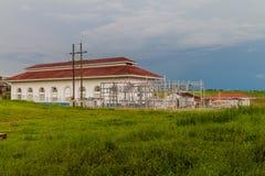 Gatun dam power generating station, Pana. Ma stock image