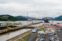 Gatun Lake to the Panama  Canal Royalty Free Stock Photos