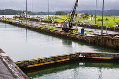 Gatun lock pool Panama Canal Stock Photos