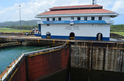 Gatun Locks Administation Buildng Royalty Free Stock Photos