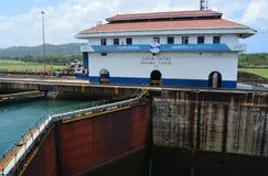 Gatun Locks Administation Buildng Royalty Free Stock Photos
