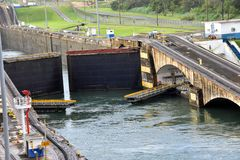 Gatun Locks Panama Canal royalty free stock images