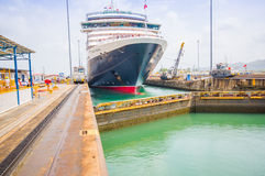 Gatun Locks, Panama Canal. This is the first set Stock Photography