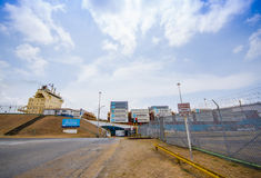 Gatun Locks, Panama Canal. This is the first set Stock Photos