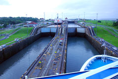 GATUN LOCKS Royalty Free Stock Photo