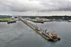 GATUN LOCKS Royalty Free Stock Image