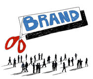 Gatunek reklamy handlu Copyright Marketingowy pojęcie royalty ilustracja