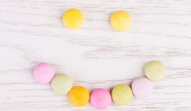 gatunki tła słodyczy cukierki owocowe słodycze gumowaci rodzajowe użyli white Fotografia Royalty Free