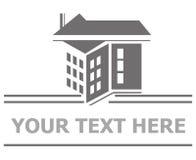 gatunku nieruchomości bezpłatnej loga wiadomości istna sloganu przestrzeń twój ilustracji