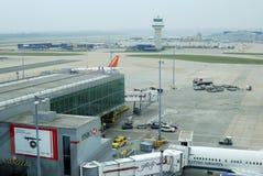 Gatwick-Flughafen. Sussex. England Lizenzfreie Stockbilder