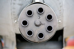 GAU-8 Avenger rotary cannon Stock Photo