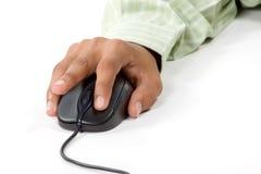 Gauche cliquetez en fonction la souris d'ordinateur Images stock