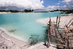 Gauche de canalisation de kaolin, île 1 de Belitung Images stock