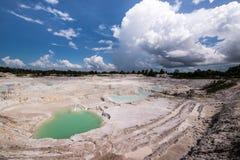 Gauche de canalisation de kaolin, île 4 de Belitung Image libre de droits