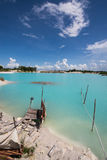 Gauche de canalisation de kaolin, île 5 de Belitung Images libres de droits