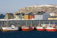 Gauche et bateau de pêche Photos libres de droits