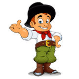 Gaucho cowboy cartoon Royalty Free Stock Photography
