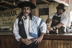 Gaucho Engelse Fiesta royalty-vrije stock afbeelding