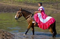 Gaucho festival. TACUAREMBO, URUGUAY - MAR 6 : Participant in the annual festival Patria Gaucha March 6, 2010 in Tacuarembo, Uruguay. It is one of the biggest Royalty Free Stock Image