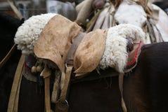 Gaucho horse saddle. A traditional gaucho horse saddle in Argentina Royalty Free Stock Photo