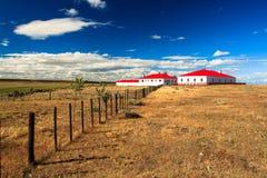 Gaucho house on estancia stock photo